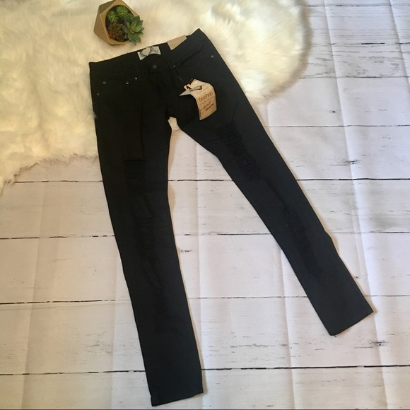 a45b760f8dbb Boohoo Jeans | Blue Sz 4 Black Chloe Ripped Skinny | Poshmark